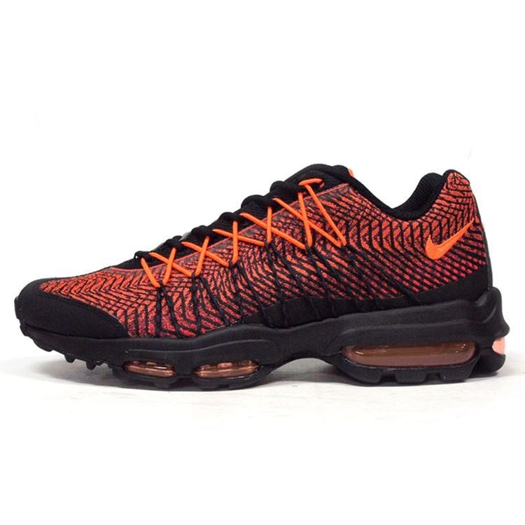 the best attitude 05ceb 719da Billig Nike Air Max 95 Ultra-Jacquard Schwarz Orange Trainer