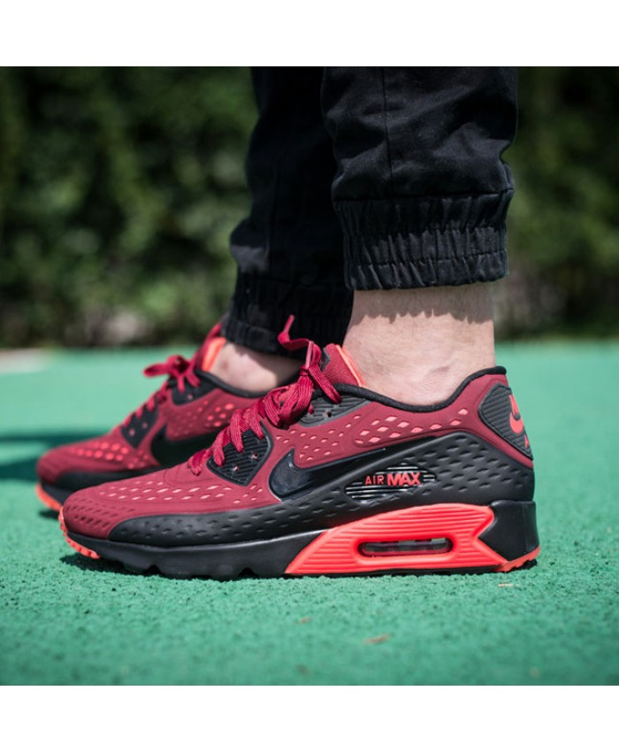 Nike Air Max 90 Ultra Breathe Team Red Hell purpurnen Trainer Männer Sale UK
