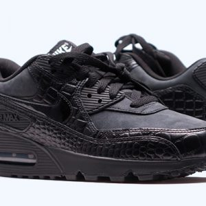 6030ed60b966df UK Sale Nike Air Max 90 Frauen Schwarz Günstige Trainer K-1078